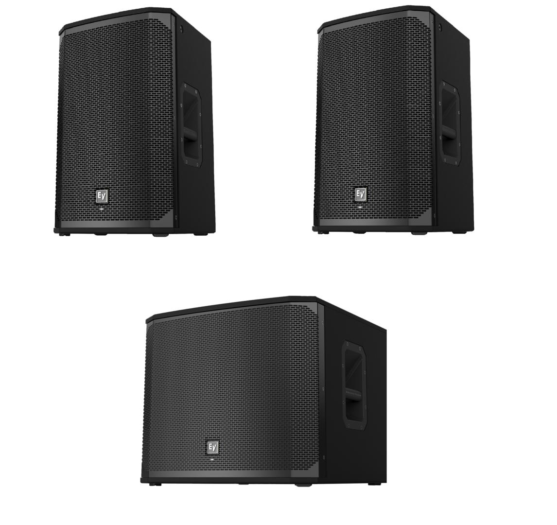 electro voice 2x ekx 15p 1x ekx 18sp package concert sound. Black Bedroom Furniture Sets. Home Design Ideas