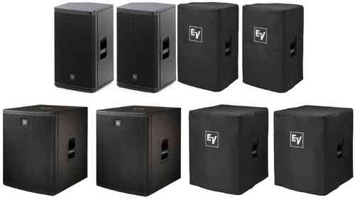 Electro-Voice 2x ELX112P 2x ELX118p Package With Covers