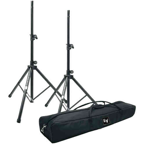 Electro-Voice 2x Tripod Stands With Carry Bag