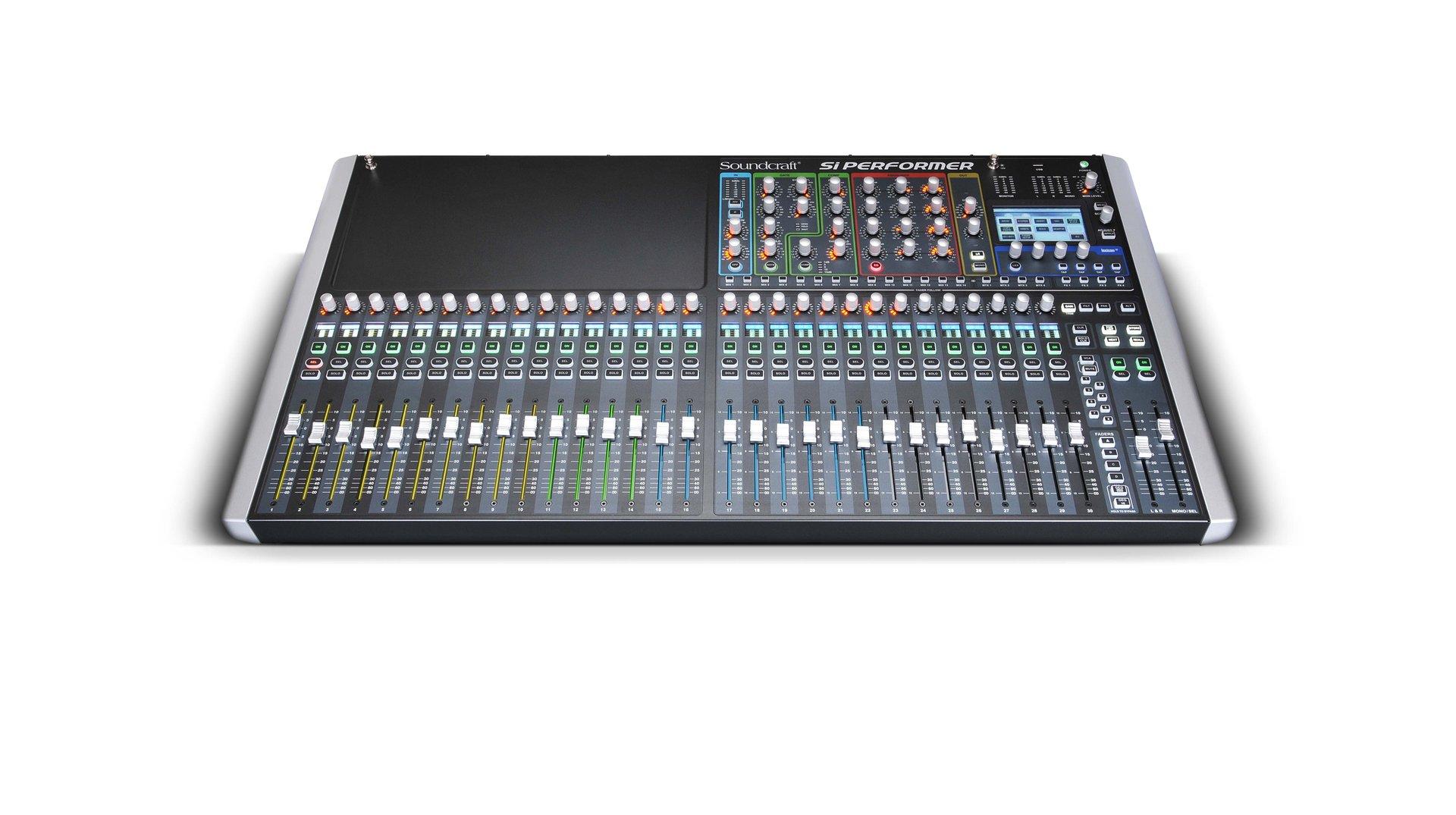 soundcraft si performer 3 digital mixer scr0539 concert sound. Black Bedroom Furniture Sets. Home Design Ideas