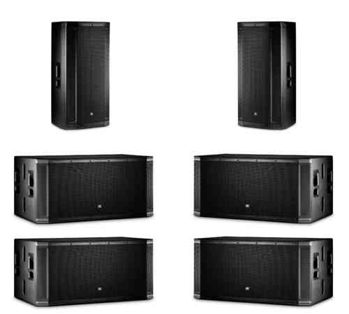 JBL 2x SRX835P 4x SRX828SP Active Speaker Package
