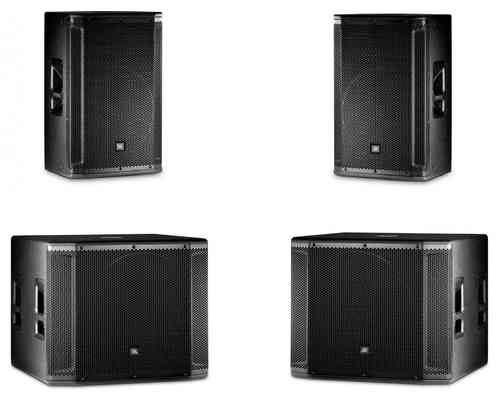 JBL 2x SRX815P 2x SRX818SP Active Speaker Package