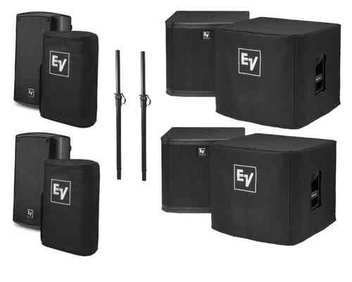 Electro-Voice 2x ZXA190B 2x ZXA1Sub System Package Including Covers
