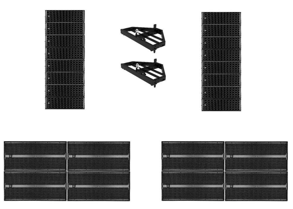 RCF HDL 50-A Line Array System 8 a side - Concert Sound