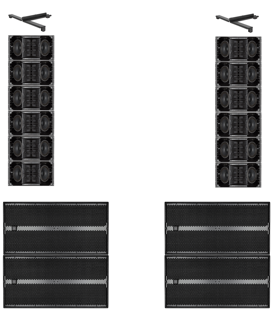 RCF HDL 10-A 6 a Side Array with SUB9006-AS - Concert Sound